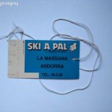 Coleccionismo deportivo: FORFAIT SKY ESQUI ESTACION ANDORRA SKI A PAL LA MASSANA AÑO 1991 OBJETO DE MEMORABILIA ESTÁ CADUCADO. Lote 235295020