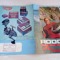 Coleccionismo deportivo: CATALOGO CARRETE PESCA RODDY 11 PÁG.VER FOTOS AÑO 1971. Lote 236313415