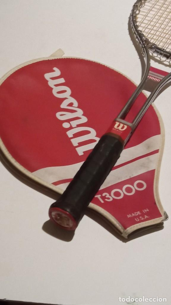 Coleccionismo deportivo: raqueta de tenis WILSON T3000 metalica - Foto 4 - 245231770