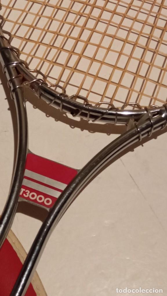 Coleccionismo deportivo: raqueta de tenis WILSON T3000 metalica - Foto 7 - 245231770