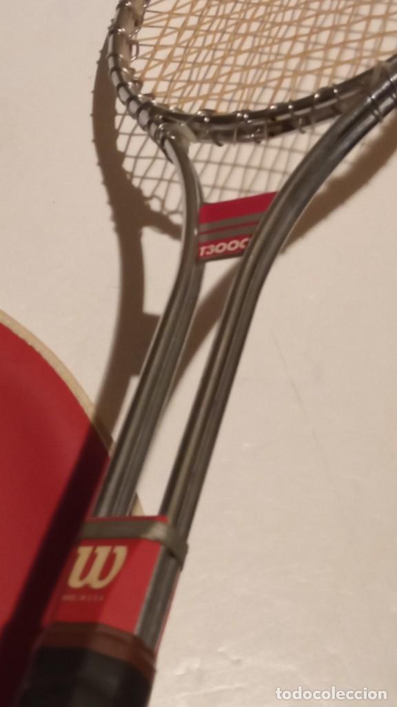 Coleccionismo deportivo: raqueta de tenis WILSON T3000 metalica - Foto 9 - 245231770
