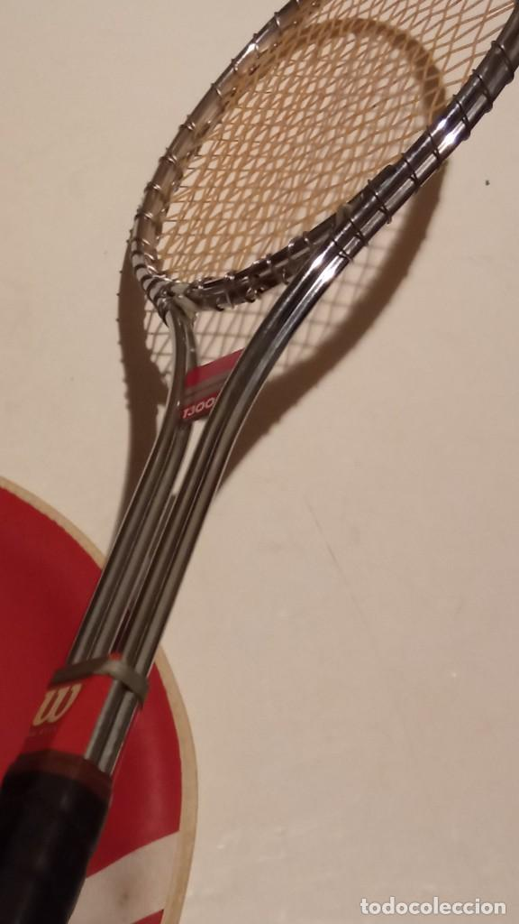 Coleccionismo deportivo: raqueta de tenis WILSON T3000 metalica - Foto 10 - 245231770