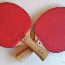 Coleccionismo deportivo: PAREJA DE PALAS DE PING PONG INESIS. Lote 246014965