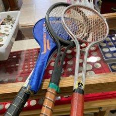 Coleccionismo deportivo: LOTE DE 4 RAQUETAS ANTIGUAS DE TENIS. Lote 253635505