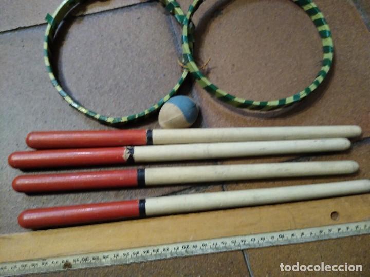 Coleccionismo deportivo: Antiguo juego deportivo de madera béisbol o similar. - Foto 2 - 254422770