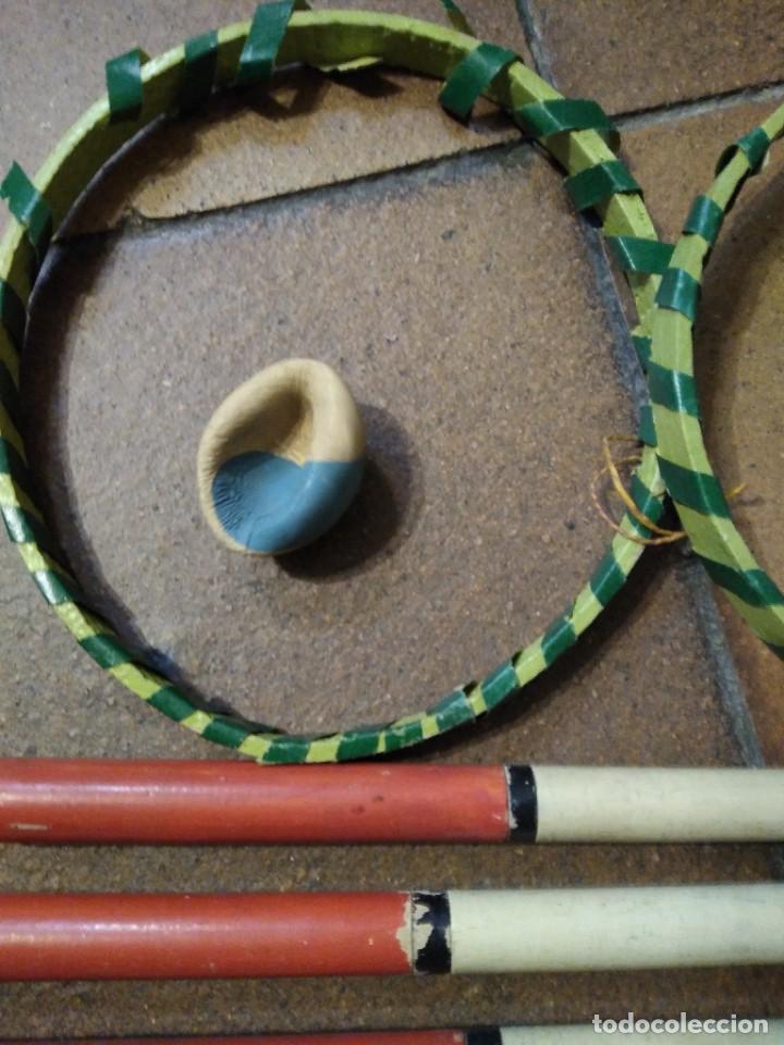 Coleccionismo deportivo: Antiguo juego deportivo de madera béisbol o similar. - Foto 3 - 254422770