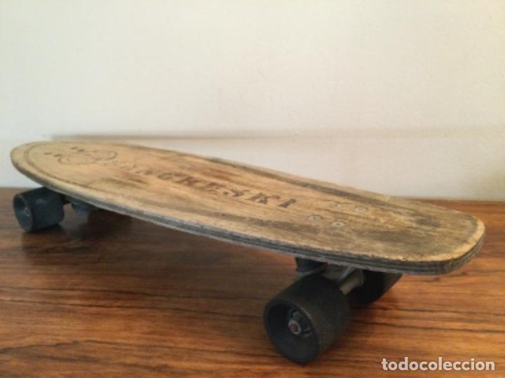 Coleccionismo deportivo: Monopatin skate Sancheski de madera RETRO VINTAGE - Foto 5 - 254707365