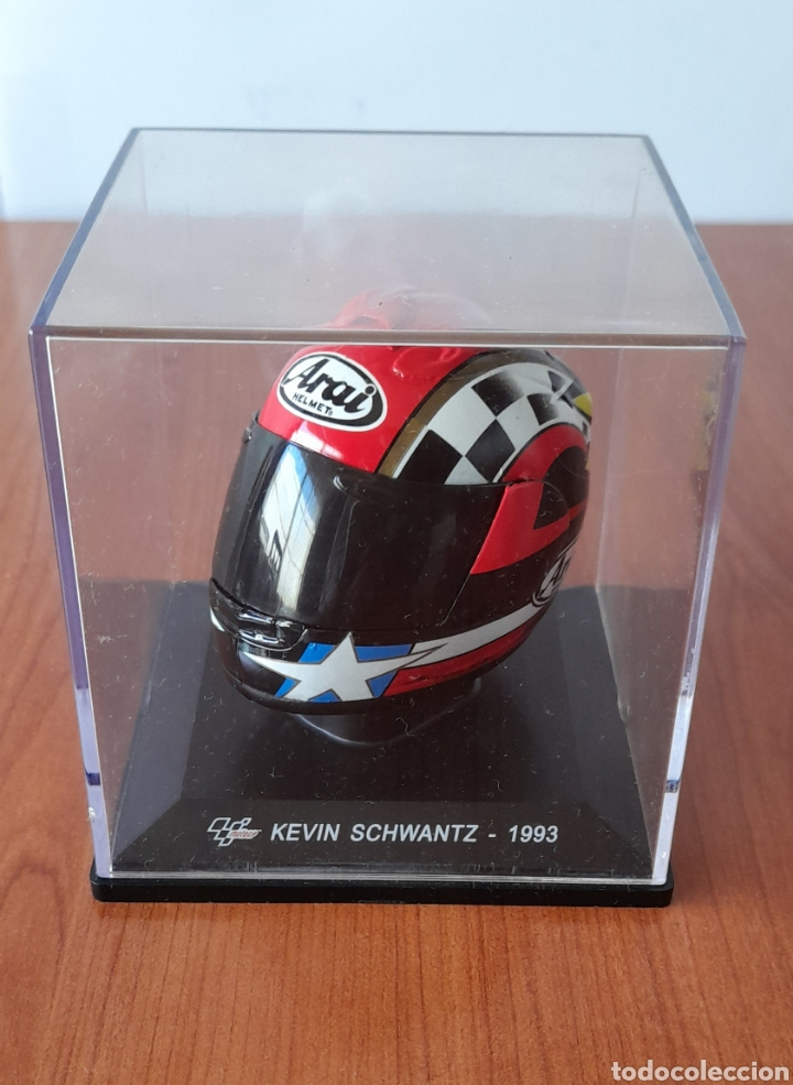 CASCO MOTO GP DE COLECCIÓN KEVIN SCHWANTZ - 1993. VER FOTOS. (Coleccionismo Deportivo - Material Deportivo - Otros deportes)