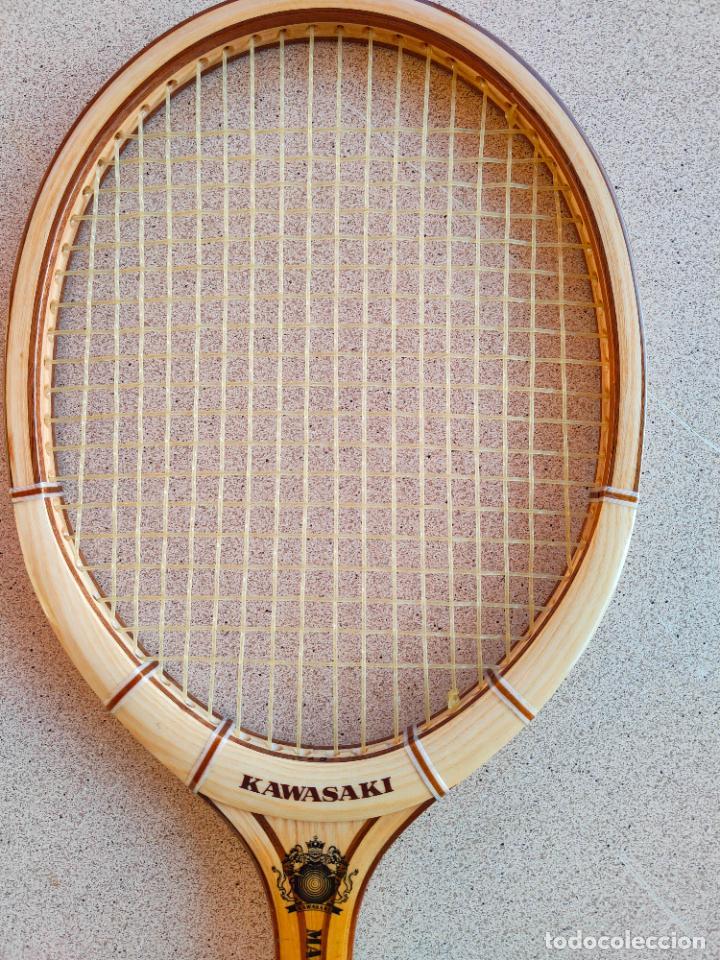 Coleccionismo deportivo: RAQUETA DE TENIS ANTIGUA DE MADERA NUEVA Kawasaki - Foto 5 - 261121355
