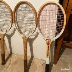 Coleccionismo deportivo: LOTE 3 RAQUETAS TENIS AÑOS 70. Lote 263599875