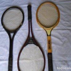 Coleccionismo deportivo: TRES RAQUETAS DE FRONTON- TENIS. Lote 264571604