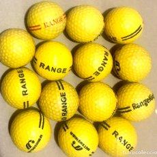 Coleccionismo deportivo: LOTE 14 PELOTAS DE GOLF AMARILLA RANGE RANGEKING MITSUSHIBA. Lote 266285308