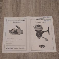 Collectionnisme sportif: (MUY DIFÍCIL)ORIGINAL LIBRO DESPIECE, CARRETE AIMSA ALEVÍN,. Lote 266416303