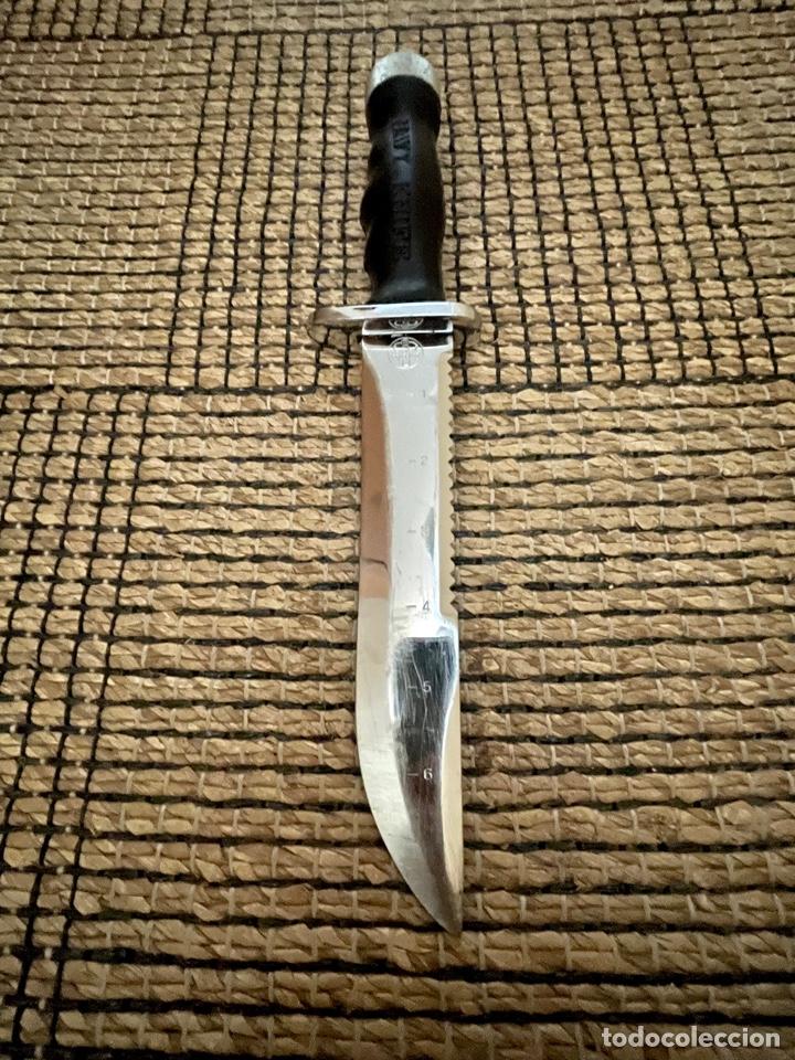 Coleccionismo deportivo: CUCHILLO DE BUCEADOR DE COMBATE ,AQUA- LUNG , NAVY KNIFE , SUBMARINISMO. MADE IN JAPAN - Foto 8 - 266956829