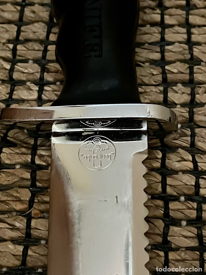 Coleccionismo deportivo: CUCHILLO DE BUCEADOR DE COMBATE ,AQUA- LUNG , NAVY KNIFE , SUBMARINISMO. MADE IN JAPAN - Foto 16 - 266956829