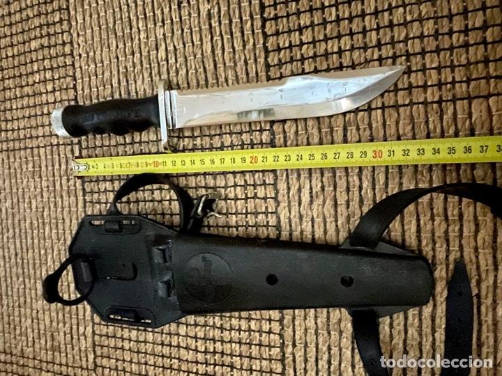 Coleccionismo deportivo: CUCHILLO DE BUCEADOR DE COMBATE ,AQUA- LUNG , NAVY KNIFE , SUBMARINISMO. MADE IN JAPAN - Foto 21 - 266956829