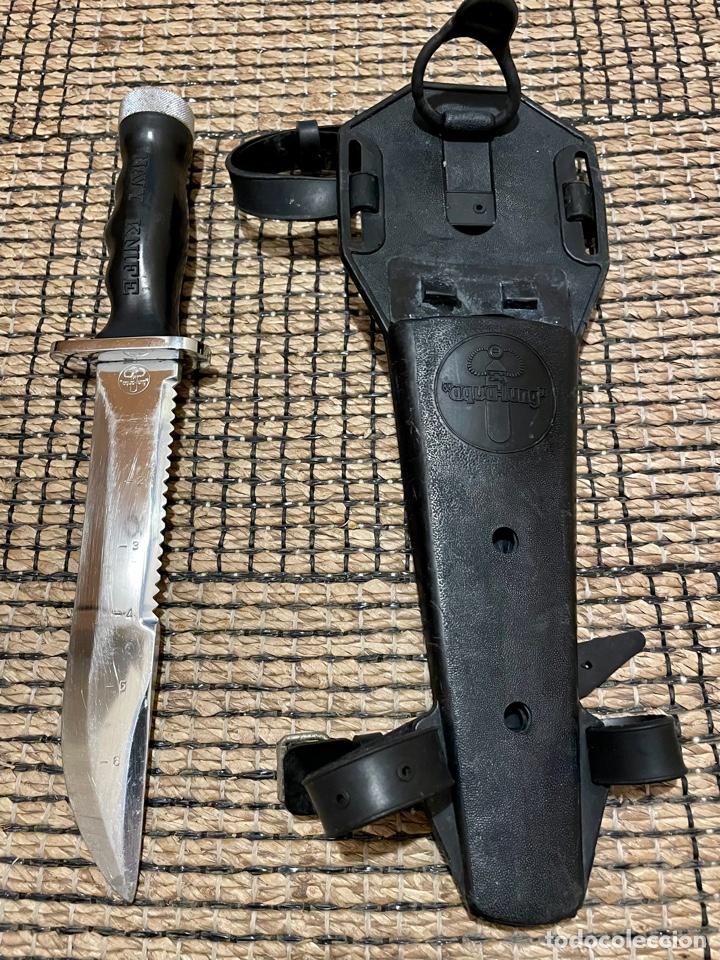 CUCHILLO DE BUCEADOR DE COMBATE ,AQUA- LUNG , NAVY KNIFE , SUBMARINISMO. MADE IN JAPAN (Coleccionismo Deportivo - Material Deportivo - Otros deportes)