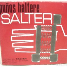 Collectionnisme sportif: SALTER VINTAGE- PUÑOS HALTERE REF:308 - SPAIN AÑOS 80- COMO NUEVOS EN CAJA - GIMNASIA. Lote 268141369