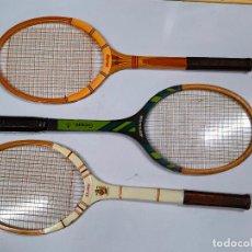 Coleccionismo deportivo: RAQUETAS DE TENIS DE MADERA DUNLOP. Lote 270521193