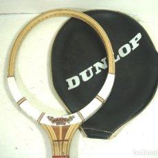 Coleccionismo deportivo: RAQUETA TENIS - DUNLOP MAXPLY FORT- ANTIGUA MADERA + FUNDA ORIGINAL - MADE IN ENGLAND. Lote 271571833