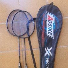 Coleccionismo deportivo: PAREJA RAQUETA BADMINTON AOSIKE PRO 750. Lote 277828998