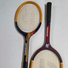 Coleccionismo deportivo: 2 RAQUETAS DE TENIS DONNAY ANTIGUAS DE MADERA. Lote 278177943