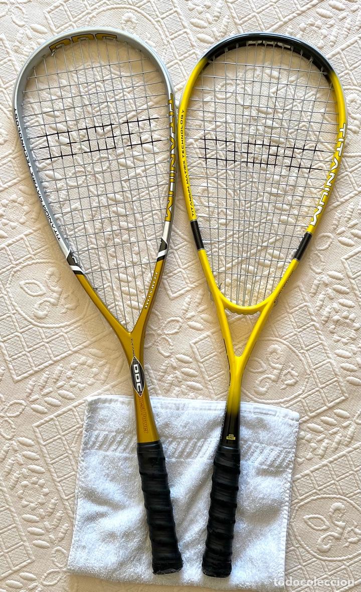 Coleccionismo deportivo: Par de raquetas de titanio - Foto 2 - 278201923