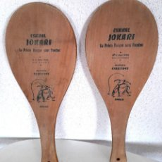 Coleccionismo deportivo: PALAS PELOTA VASCA FRONTÓN MADERA MADE IN FRANCE ESKUAL JOKARI CHIKITOYS JUNIOR 43 CM. Lote 284072773