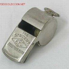 Coleccionismo deportivo: PITO SILBATO EN METAL CASA THE STRIDENT. Lote 1295855
