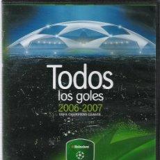 Coleccionismo deportivo: TODOS LOS GOLES DE LA UEFA CHAMPIONS LEAGUE 2006/2007 - HEINEKEN - DVD. Lote 38063125