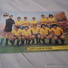 Coleccionismo deportivo: POSTER DE FUTBOL CADIZ AÑO 1971 - 1972 ( PERIODICO AS ). Lote 37426339