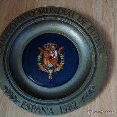 Coleccionismo deportivo: PLATO CAMPEONATO MUNDIAL DE FUTBOL ESPAÑA 82, SE DABA EN VEZ DE LOS BANDERINES EN ALGUNOS PARTIDOS. Lote 39329835
