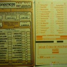 Coleccionismo deportivo: LOTE DOS QUINIELAS DE FUTBOL EXTRANJERAS. Lote 43355664