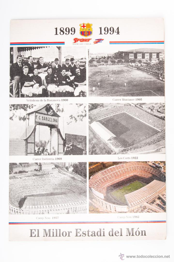 PROPAGANDA CON MAQUETA DEL CAMP NOU DEL SPORT DEL AÑO 1899-1994 (Coleccionismo Deportivo - Material Deportivo - Fútbol)