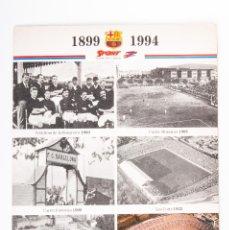 Coleccionismo deportivo: PROPAGANDA CON MAQUETA DEL CAMP NOU DEL SPORT DEL AÑO 1899-1994. Lote 44245024