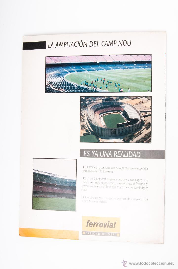 Coleccionismo deportivo: PROPAGANDA CON MAQUETA DEL CAMP NOU DEL SPORT DEL AÑO 1899-1994 - Foto 5 - 44245024