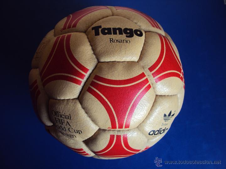 (F-1105)BALON ADIDAS TANGO ROSARIO,EDICION ESPECIAL F.C.BARCELONA,FIRMAS MARADONA,QUINI,MIGUELI,ETC. (Coleccionismo Deportivo - Material Deportivo - Fútbol)