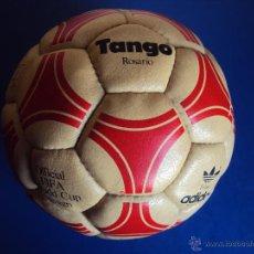 Coleccionismo deportivo: (F-1105)BALON ADIDAS TANGO ROSARIO,EDICION ESPECIAL F.C.BARCELONA,FIRMAS MARADONA,QUINI,MIGUELI,ETC.. Lote 46052114