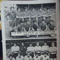 Coleccionismo deportivo: ANTIGUA PEQUEÑA HOJA DEPORTIVA - FUTBOL - JUGADORES EQUIPOS ,,, OSASUNA SALAMANCA. Lote 48469306