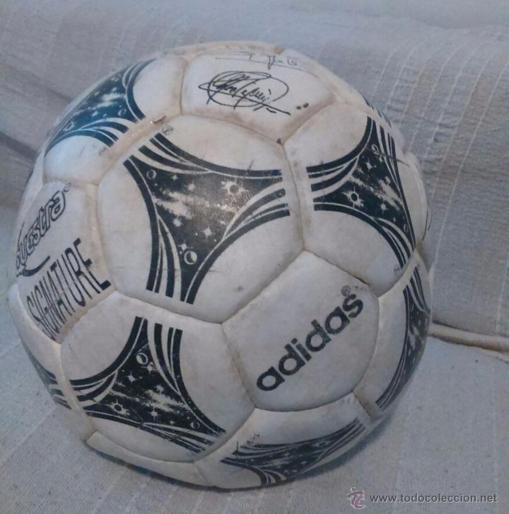 BALÓN ADIDAS MUNDIAL 94 CON FIRMAS SELECCION ESPAÑOLA (Coleccionismo Deportivo - Material Deportivo - Fútbol)