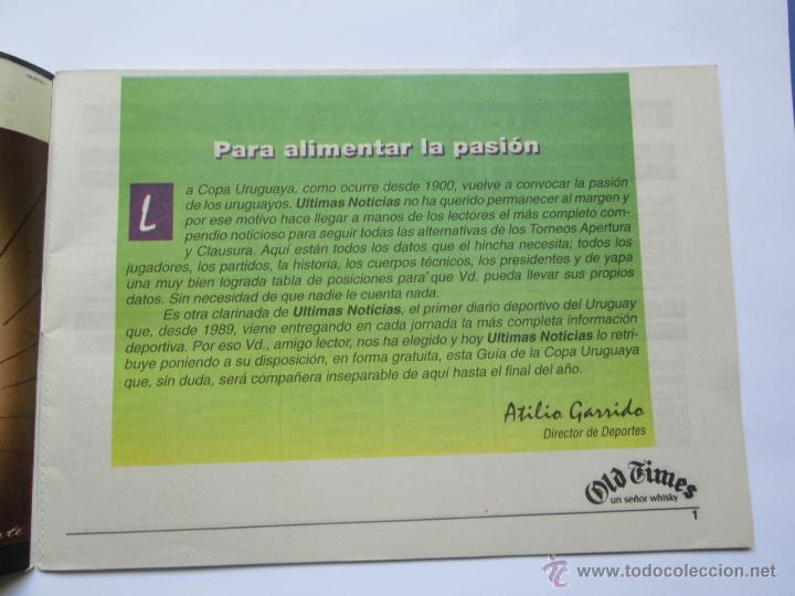 Coleccionismo deportivo: FUTBOL URUGUAY GUIA 1998 FIXTURE COPA - Foto 3 - 52457059