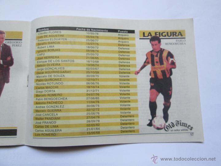 Coleccionismo deportivo: FUTBOL URUGUAY GUIA 1998 FIXTURE COPA - Foto 5 - 52457059