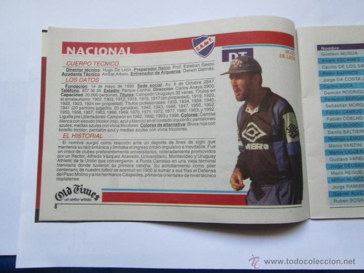Coleccionismo deportivo: FUTBOL URUGUAY GUIA 1998 FIXTURE COPA - Foto 6 - 52457059