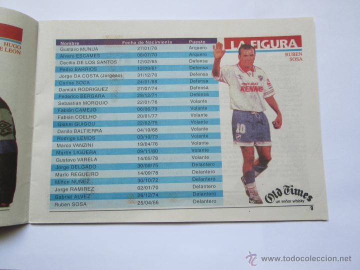 Coleccionismo deportivo: FUTBOL URUGUAY GUIA 1998 FIXTURE COPA - Foto 7 - 52457059