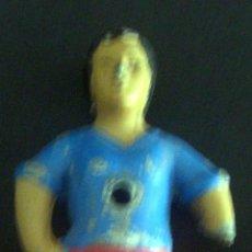 Coleccionismo deportivo: SIN EQUIPO - DEFECTUOSO FALTA PARTE BRAZO IZQUIERDO - JUGADOR DE FUTBOLIN ANTIGUO DE METAL . Lote 54562225