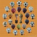 Coleccionismo deportivo: COLECCION BALONES MUNDIALES DESDE 1930 - 2014 (ADIDAS) + TROFEOS COPA DEL MUNDO Y JULES RIMET. Lote 56764479