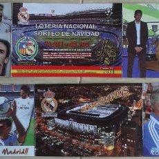 Coleccionismo deportivo: LOTERIA NACIONAL NAVIDAD 2013 - REAL MADRID - VER FOTO. Lote 57267864