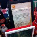 Coleccionismo deportivo: RED OFICIAL PARTIDO FÚTBOL INAUGURACIÓN EURO 2004 PORTUGAL. CON CERTIFICADO. Lote 57607157