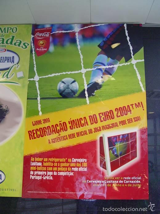 Coleccionismo deportivo: RED OFICIAL PARTIDO FÚTBOL INAUGURACIÓN EURO 2004 PORTUGAL. CON CERTIFICADO - Foto 6 - 57607157