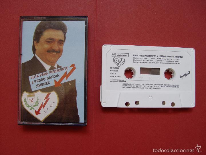 CASETE RAYO VALLECANO (PEDRO GARCÍA JIMÉNEZ) 1989 ¡ORIGINAL! ¡COLECCIONISTA! (Coleccionismo Deportivo - Material Deportivo - Fútbol)